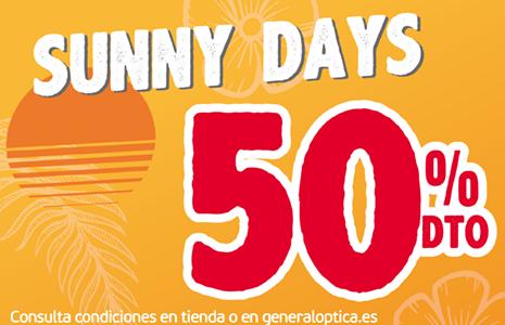 50% DE DESCUENTO EN TODAS LAS GAFAS DE SOL